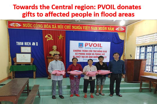 Towards the Central region: PVOIL donates gifts to affected people in flood areas