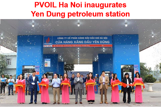 PVOIL Ha Noi inaugurates Yen Dung petroleum station in Bac Giang province