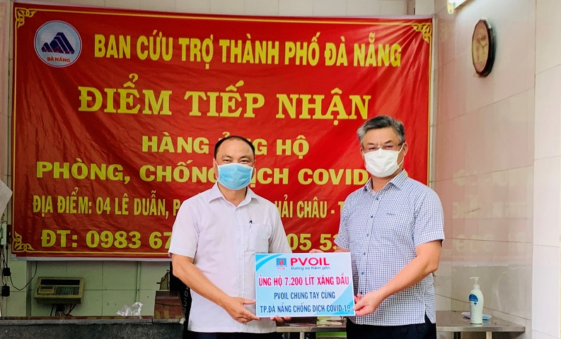 PVOIL donates Da Nang city 7,200 liters of gasoline to battle Covid-19 pandemic